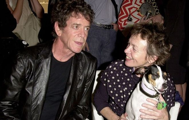 Lou Reed, Laurie Anderson and her dog Lolabelle.