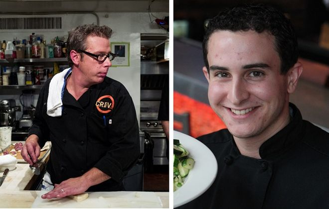 Adam Goetz of Craving is a reigning Nickel City Chef, and he'll face challenger Phil Limina of Tappo. (Andrew Renneisen/Special to The News; Sharon Cantillon/Buffalo News file photo)