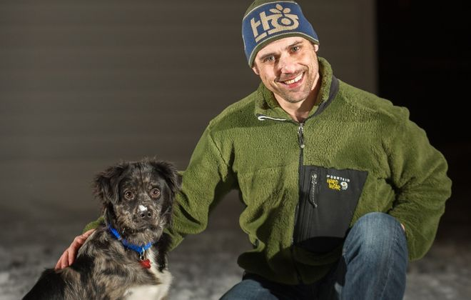 Aaron Ingrao, right, with his dog, Luke. (Aaron Ingrao)