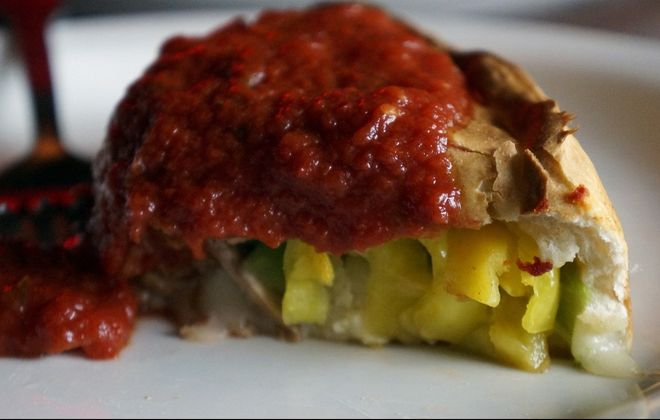 Slice of pizza from Pizza Plant at Canalside. (Lizz Schumer/Special to The News)