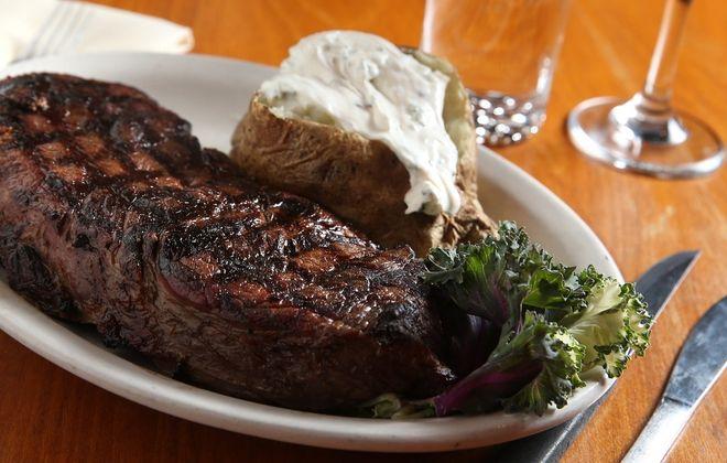Scotch 'N Sirloin's top sirloin, colossal cut, which weighs 24 ounces. (Sharon Cantillon/Buffalo News)