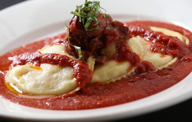 Osteria 166's tomato-eggplant ravioli is one of Andrew Galarneau's choices for great housemade pasta. (Sharon Cantillon/News file photo)
