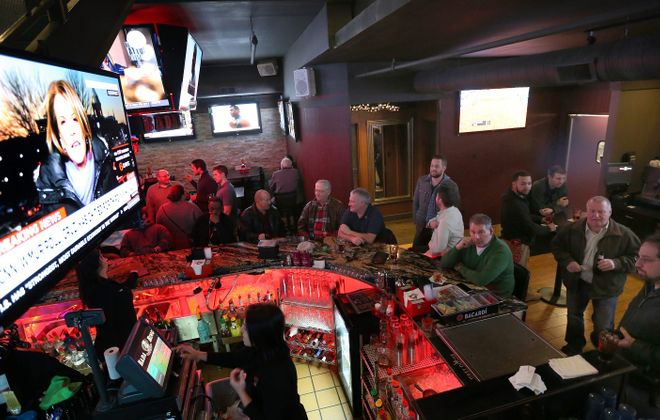 The bar area of Bada Bing is often crowded.  (Sharon Cantillon/Buffalo News file photo)