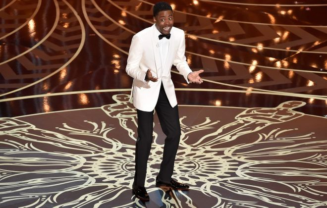 Host Chris Rock speaks onstage during the 88th Annual Academy Awards at the Dolby Theatre on February 28, 2016 in Hollywood, Calif.  (Getty Images)