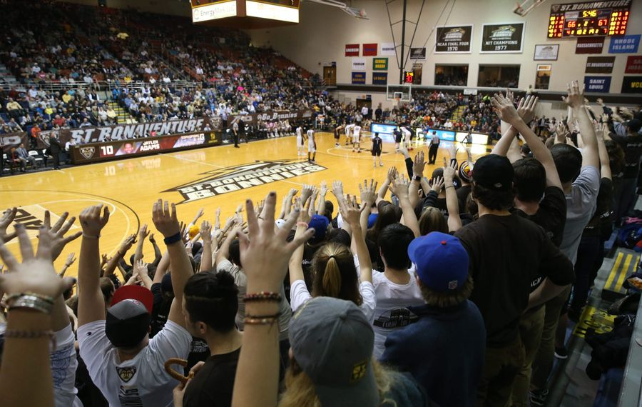 A St. Bonaventure Bonnies basketball game can be an exciting experience whether or not you're a basketball fan.  (Sharon Cantillon/Buffalo News)