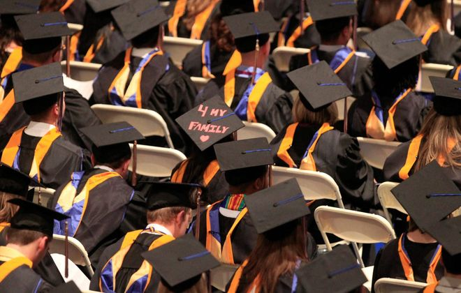 Canisius College graduates gather at UB's Alumni Arena in May 2011. Since then, enrollment at Canisius has fallen from 5,111 to 4,181 students, a decrease of 18 percent.
