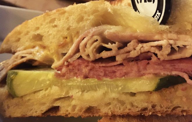 The Cuban sandwich from 716 Food and Sport. (Andrew Galarneau/Buffalo News)
