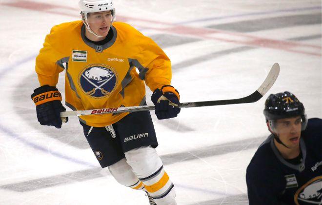 Maxwell Willman skates during the 2016 Blue-Gold scrimmage. (Robert Kirkham/Buffalo News)