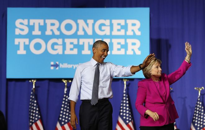 President Barack Obama will be the keynote speaker at Wednesday's Democratic convention, in support of Hillary Clinton.  (Photo by Justin Sullivan/Getty Images)
