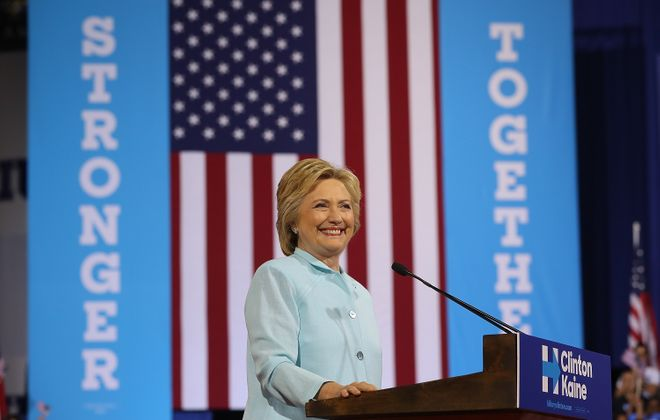 Democratic presidential candidate former Secretary of State Hillary Clinton. (Getty Images)
