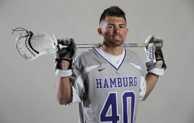 Evan Hollfelder from the undefeated Hamburg Bulldogs won the Tom Borrelli Award as the area's best boys lacrosse player. (Harry Scull Jr./Buffalo News)