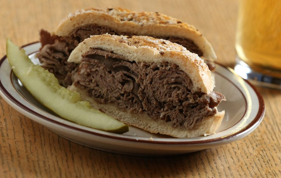 Beef on weck is one of the local staples that Buffalo's Famous will bring to Brooklyn. This is a beef on weck from Swistons Beer and Keg. (Sharon Cantillon/Buffalo News)