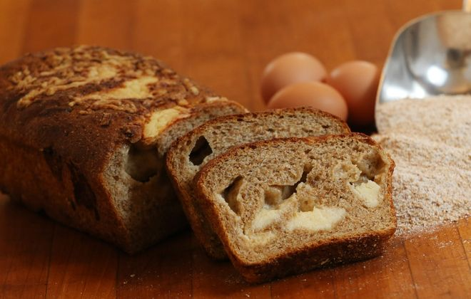 Five Points Bakery's sharp cheddar cheese bread is among Andrew Galarneau's highlights. (Sharon Cantillon/Buffalo News)