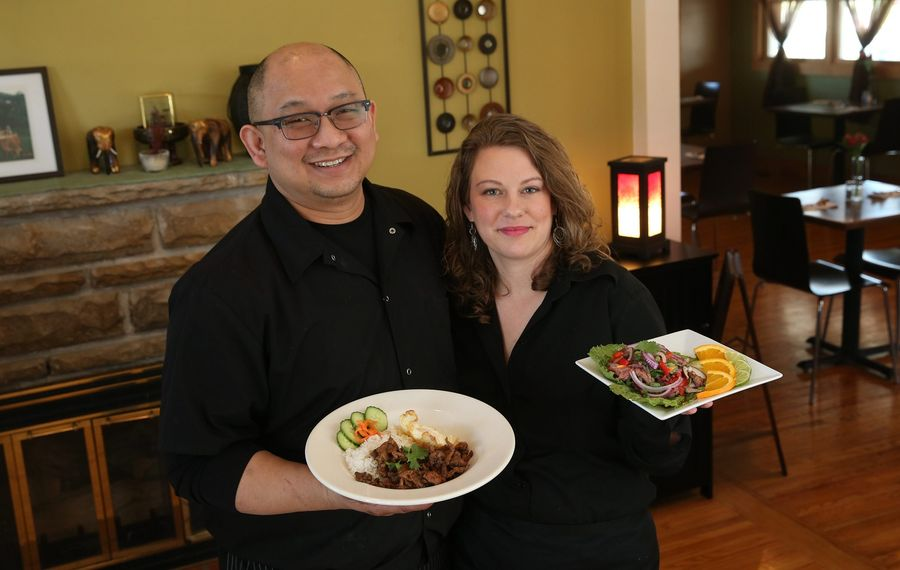 Water Lily Cafe owners Kim and Amy Suphankomut are working to introduce their Thai cuisine to Cheektowaga.  (Sharon Cantillon/Buffalo News)