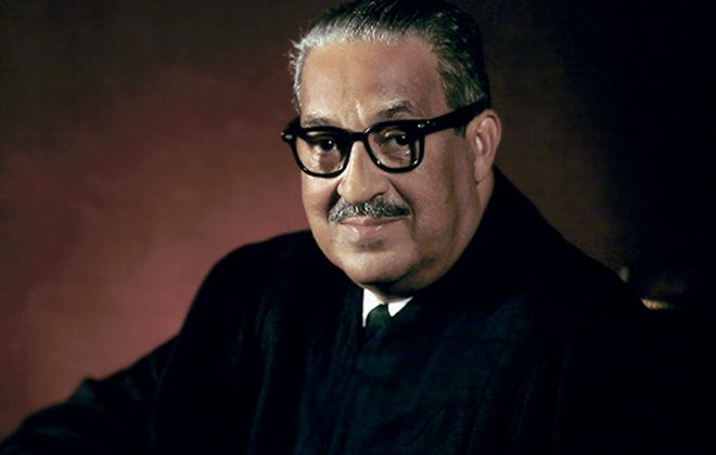 Thurgood Marshall was the first African American in U.S. history to serve as a Supreme Court justice.