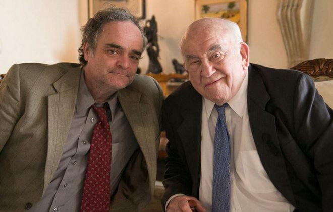 """Tim Joyce, left, stars with Ed Asner in """"Love Meets Hope."""" The movie will be shown Friday as part of the Buffalo Niagara International Film Festival."""