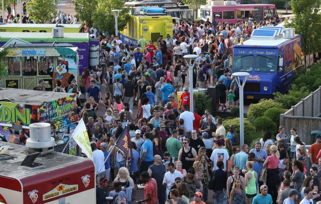 Food Truck Tuesday  is from 5 to 8 p.m. Tuesday in Larkin Square. (Sharon Cantillon/Buffalo News file photo)