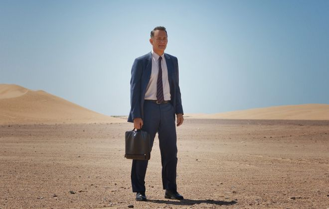 "Tom Hanks stars in ""A Hologram for the King."""