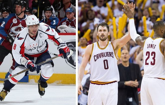 """Alexander Ovechkin of the Washington Capitals, as the NBA's Cleveland Cavaliers, are discussed on """"Sports Talk Sunday."""" (Getty Images)"""
