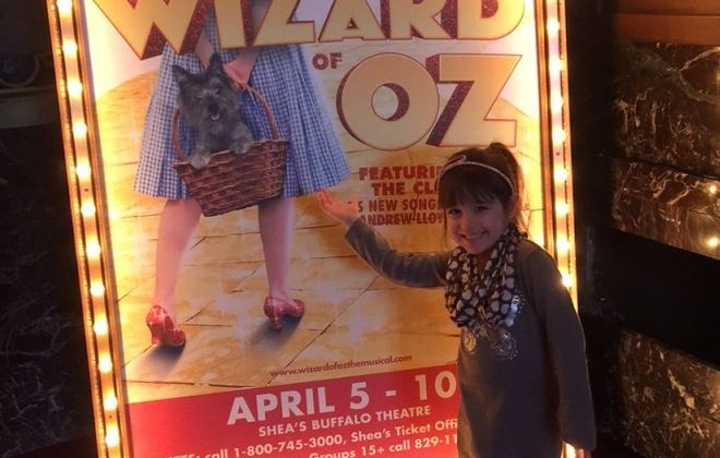 "Emma, 4, loved ""The Wizard of Oz,"" but was a bit scared in a few parts. (Mary Friona-Celani/Special To The News)"
