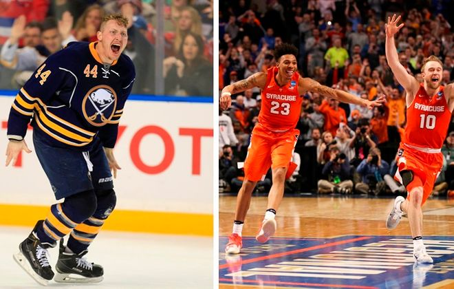 The Sabres' late-season surge and Syracuse's shocking run to the NCAA Final Four are major topics in Sports Talk Sunday on April 3, 2016. (Buffalo News file photo/Getty Images)