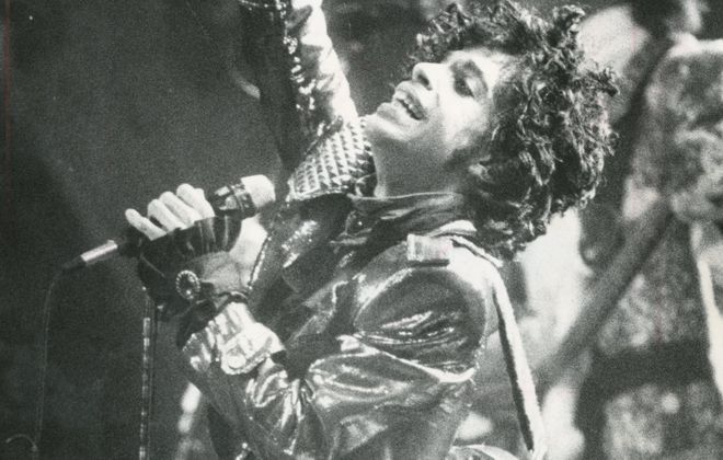 Prince performs in the Aud in 1984. (Buffalo News file photo)