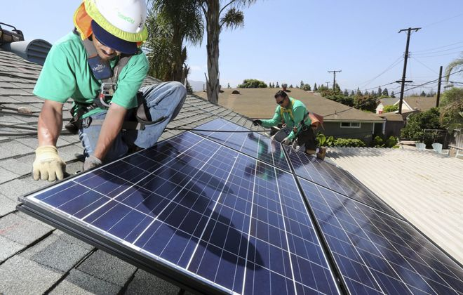 SolarCity, the nation's largest residential solar energy installer, will operate the Western Hemisphere's larest solar panel manufacturing plant at RiverBend. (New York Times photo)