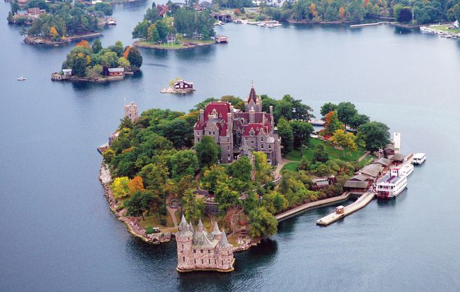 Boldt Castle, built for a millionaire's wife who died before its completion, boasts six stories and 120 rooms. (George Fischer)