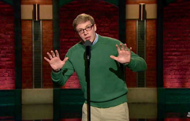 """Buffalo native Joe Pera, seen here performing on """"Late Night with Seth Meyers,""""  returns home for a show on Dec. 27 at Mr. Goodbar ."""