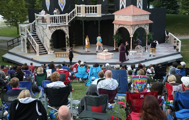 Sharing a picnic and a free play at Shakespeare in Delaware Park is a great date night. (Sharon Cantillon/Buffalo News file photo)