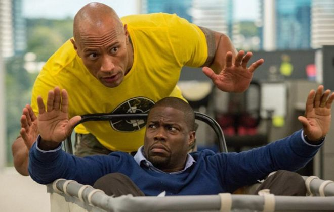 "Dwayne Johnson and Kevin Hart have some fun in ""Central Intelligence."""