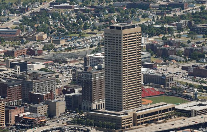 Donn Esmonde says One Seneca Tower stands at the foot of Main Street like a giant exclamation counterpoint to downtown's rebirth and Canalside's development. (Derek Gee/News file photo)