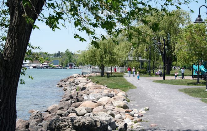 Kershaw Park features nine acres of park land on the north shore of Canandaigua Lake.