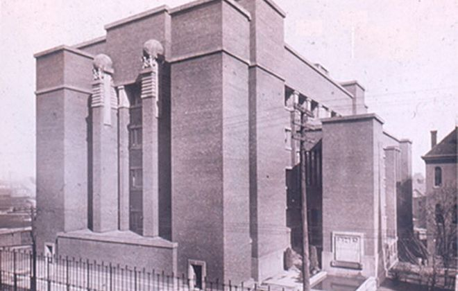 Frank Lloyd Wright's Larkin Administration Building, built in 1903 and razed in 1950.  (Buffalo News file)
