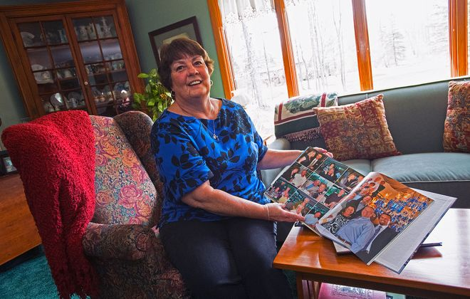 Pam Voss shows photos of a trip that almost didn't happen, but was saved by help from her travel agent.