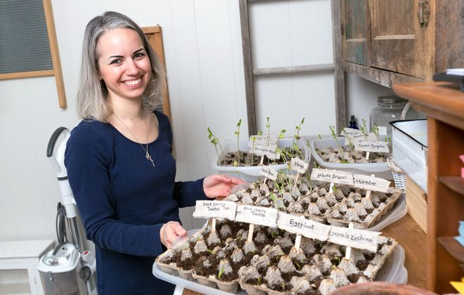 Mary Haseltine of East Amherst is deliberate about where she shops, and also grows some of her own food to ensure it's organic and healthy. (Michael P. Majewski)