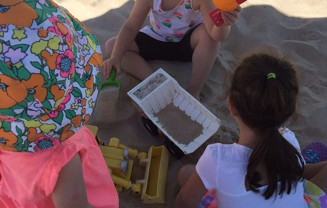 Take the kids to enjoy the free giant sand box at Canalside. (Mary Friona-Celani/Special to The News)
