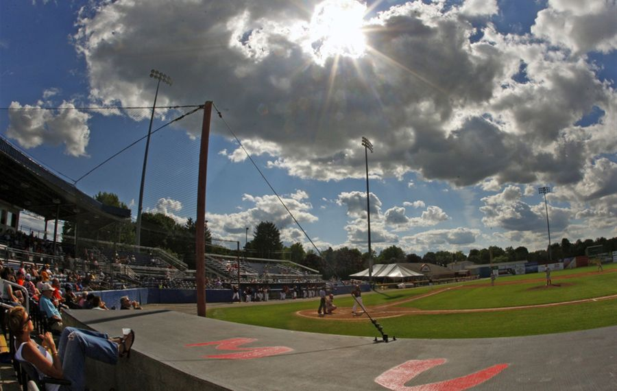 Dwyer Stadium remains a charming home to minor league baseball in Batavia. The Muckdogs are the last remaining team from among the original six New York-Penn League franchises. (Harry Scull Jr./Buffalo News)