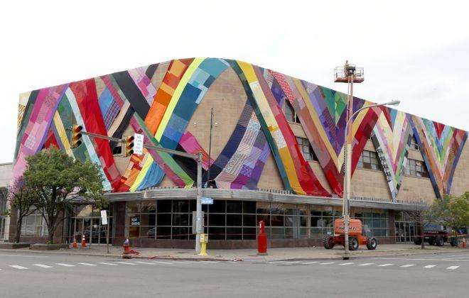 Public art project transforms three Buffalo buildings