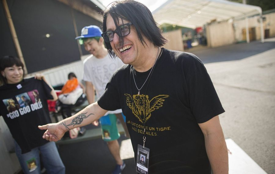 Robby Takac, the bassist for the Goo Goo Dolls, is also the founder of the Music Is Art Festival. (Derek Gee/Buffalo News)