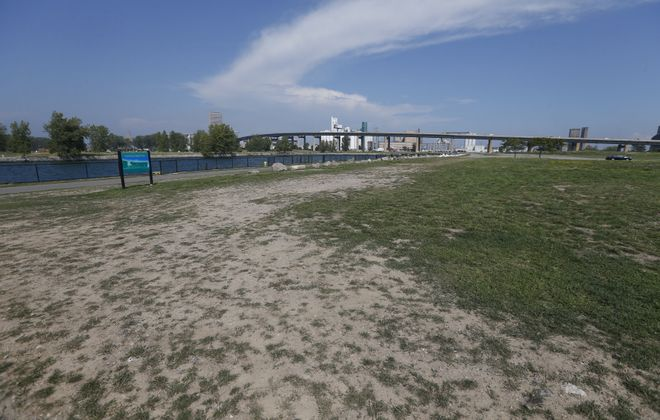 A view of Outer Harbor land on Sept. 7, 2017. (Robert Kirkham/Buffalo News)