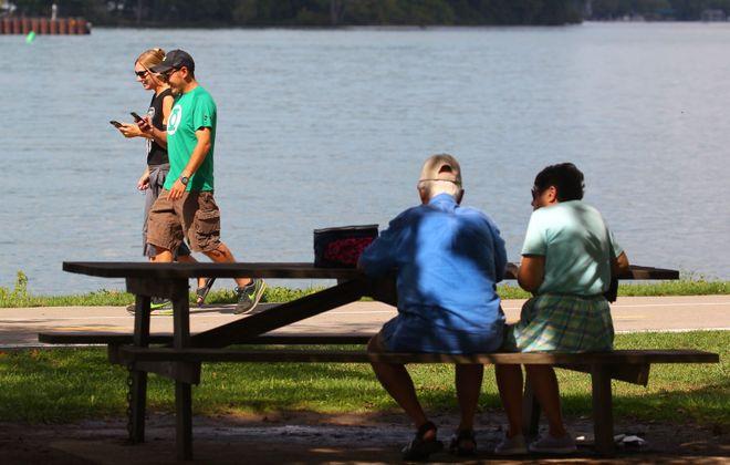 Niawanda Park is one of 60 sites across the Buffalo Niagara region where volunteers will clean up shoreline trash Saturday. (Mark Mulville/News file photo)