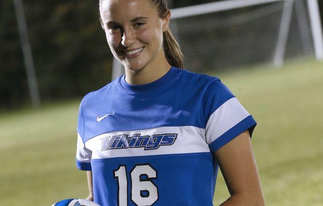 Madisyn Pezzino of Grand Island soccer scored her 200th career goal recently.