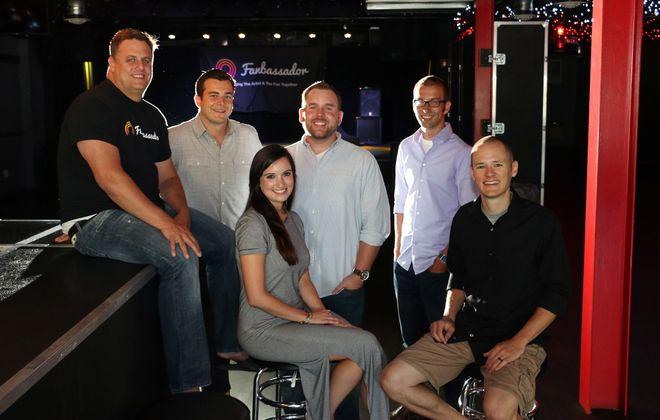 The Fanbassador team, from left to right: Scott Dancy, Martin Vidal-Engaurran, Chris Ring, Kurt Wojda and Mike Kozelsky. Front: Brittany Symkowski. (Dave Jarosz)
