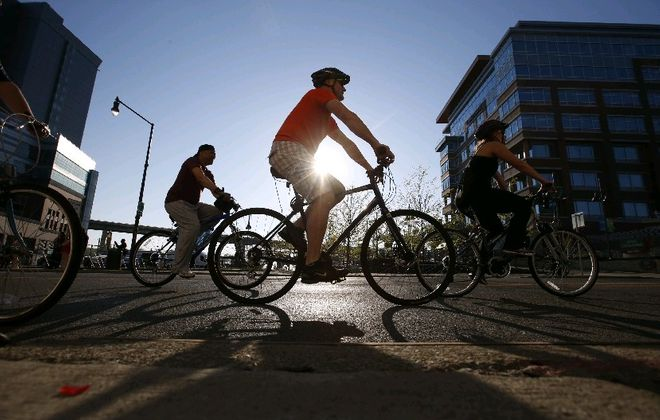 Slow Roll Buffalo encourages social distance while biking. (Harry Scull Jr./News file photo)