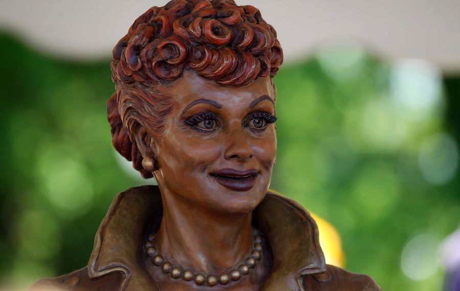 A statue of Lucille Ball in the Lucille Ball Memorial Park in Celoron. (Mark Mulville/Buffalo News)