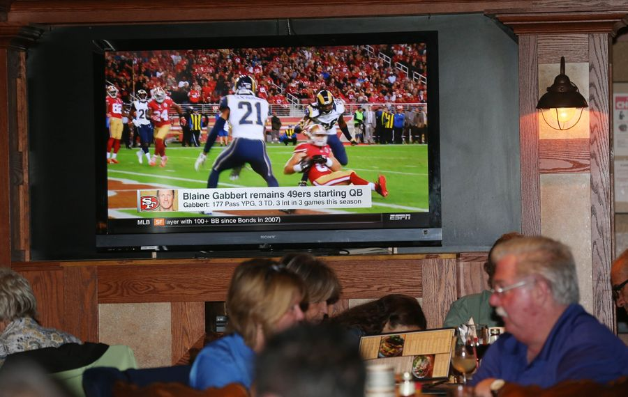 Watch games from the NFL, MLB and NHL, among others, at Buffalo Brew Pub. (Sharon Cantillon/Buffalo News)