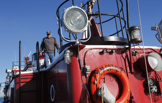 The Buffalo Fire Department fireboat the Edward M. Cotter was designated a National Historic Landmark in 1996 and is believed to be the oldest active fireboat in the world. (Derek Gee/Buffalo News)