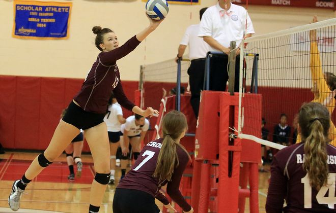 Julia Carter (13) and Maryvale are the top seed in the Class B-1 girls volleyball playoffs. (John Hickey/Buffalo News)