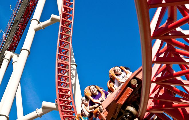 For hair-raising, body-crunching coaster rides and much more, head to Cedar Point in Sandusky, Ohio